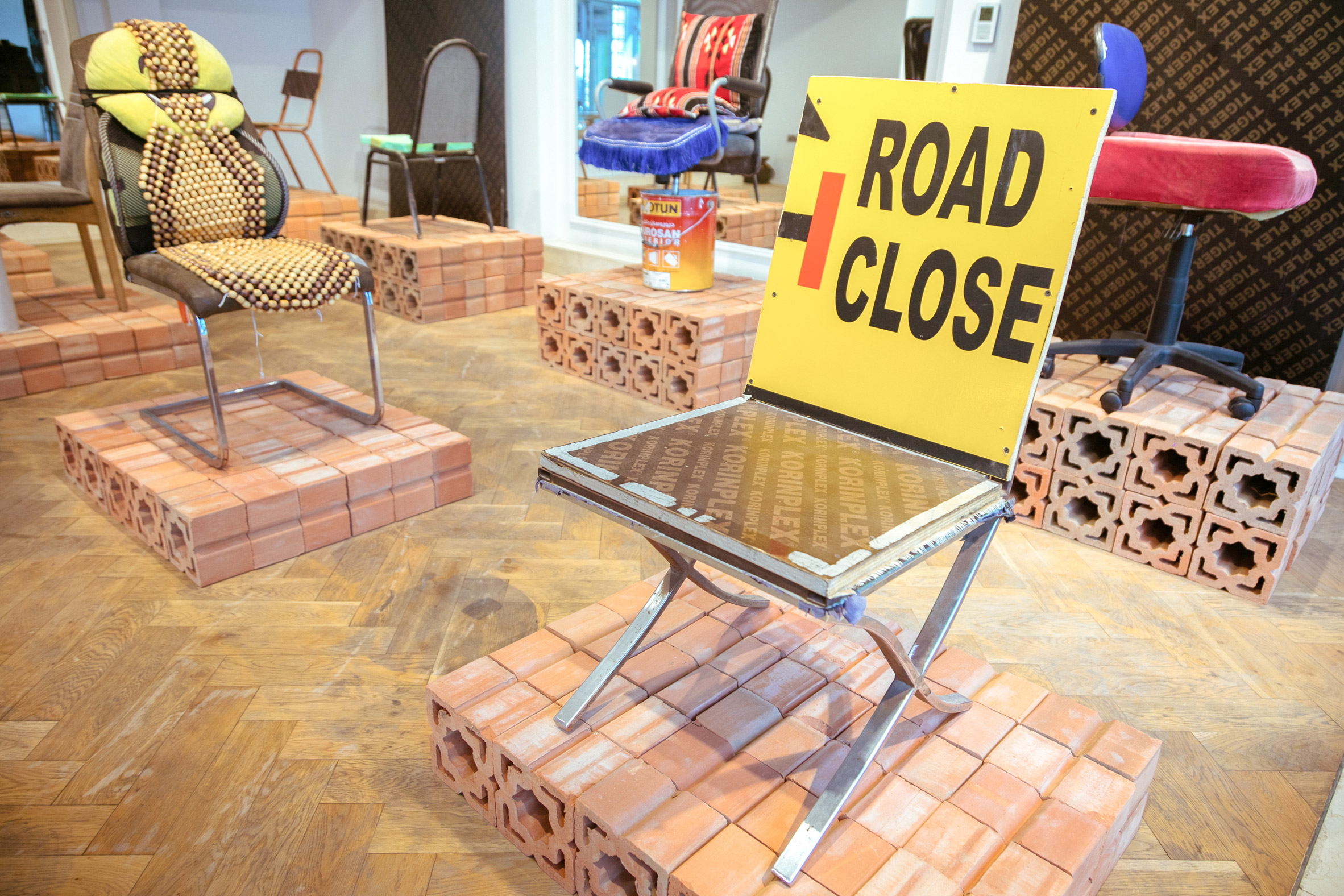 SMC Samir Mohd Carpentry chair from How to be at Rest installation at Dubai Design Week