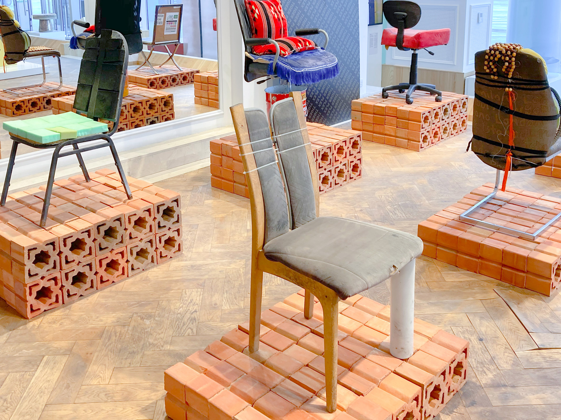 Classic Car Accessories I chair from How to be at Rest installation at Dubai Design Week