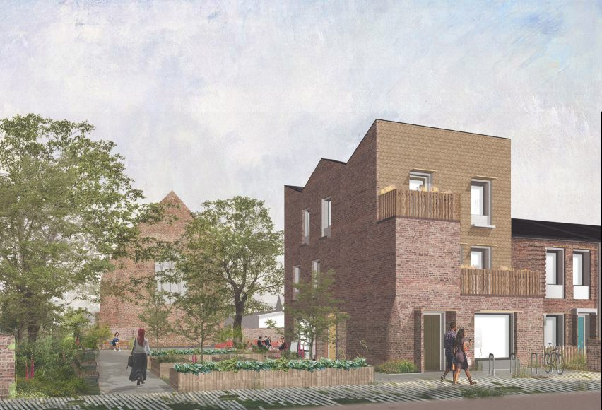 Exterior visual of a site from Mikhail Riches Housing Delivery Programme for the City of York