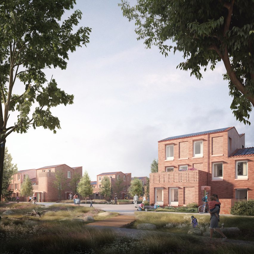 An exterior visual of a site in Mikhail Riches' Housing Delivery Programme in York