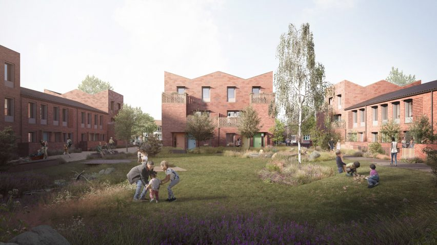 A visual from the gardens of a site in Mikhail Riches' Housing Delivery Programme in York
