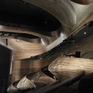Trahan Architects creates curving wooden balconies for Atlanta theatre