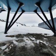 Stilts that support the Comandante Ferraz Antartic Station by Estúdio 41 in Antarctica