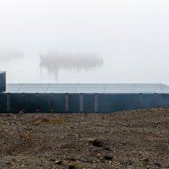 A side elevation of the Comandante Ferraz Antartic Station by Estúdio 41 in Antarctica