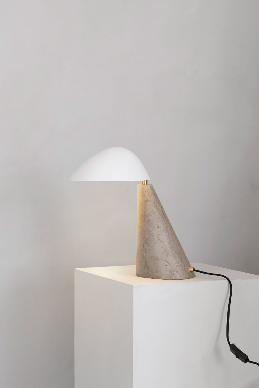 Space Copenhagen's sculptural Fellow Lamp for the Complements collection by Fredericia