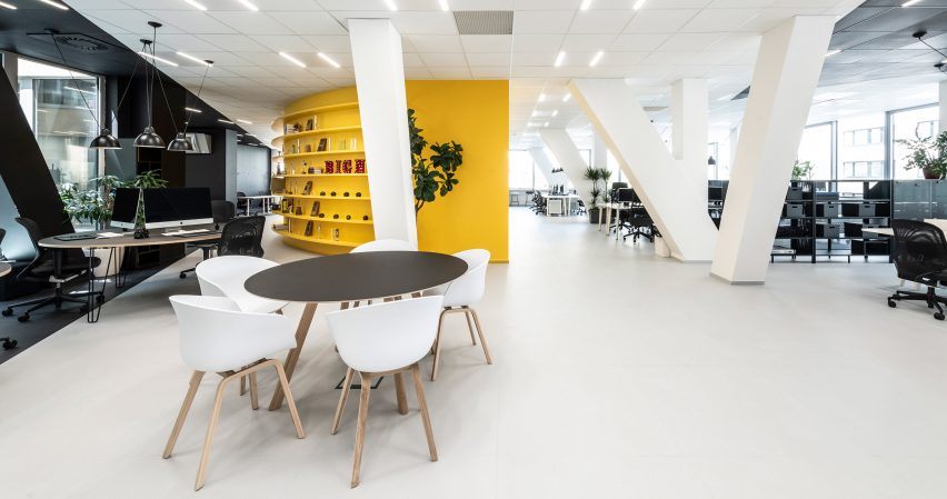 Interiors of the office for creative agency DDB Prague by B2 Architecture, Czech Republic