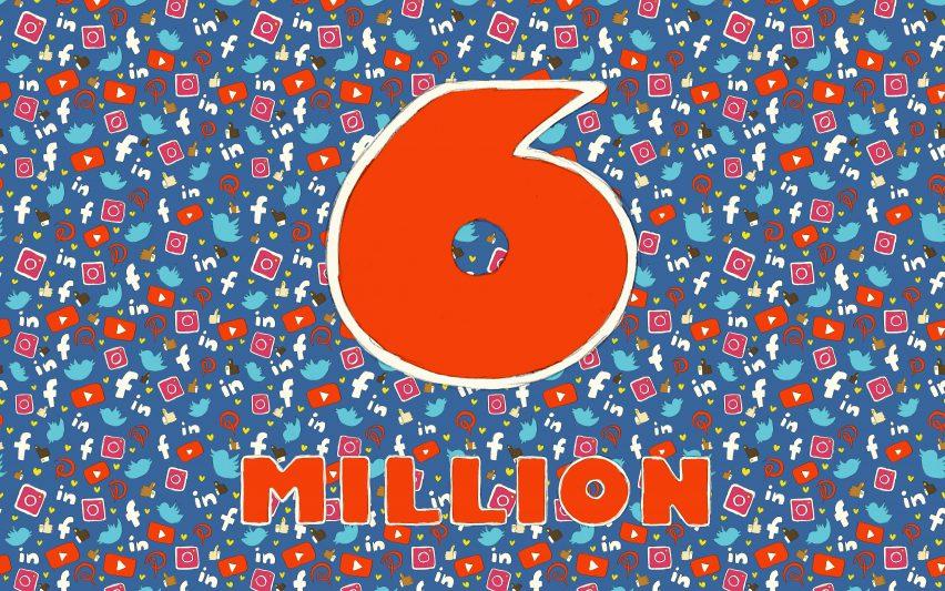 dezeen hits six million social media followers