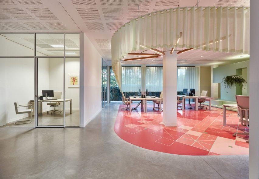 Staff area of Domstate Zorghotel rehabilitation centre by by Van Eijk & Van der Lubbe, Utrecht