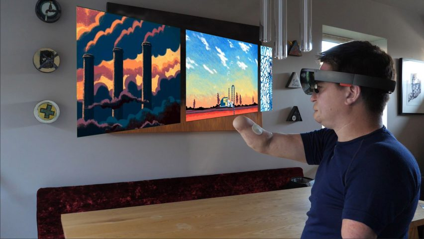 The Dots gesture-recognition system in use on screen