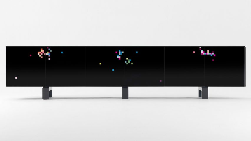 The all-black Dreams cabinet by Cristian Zuzunaga for BD Barcelona