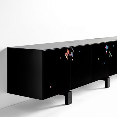 The all-black Dreams cabinet by Cristian Zuzunaga for BD Barcelona