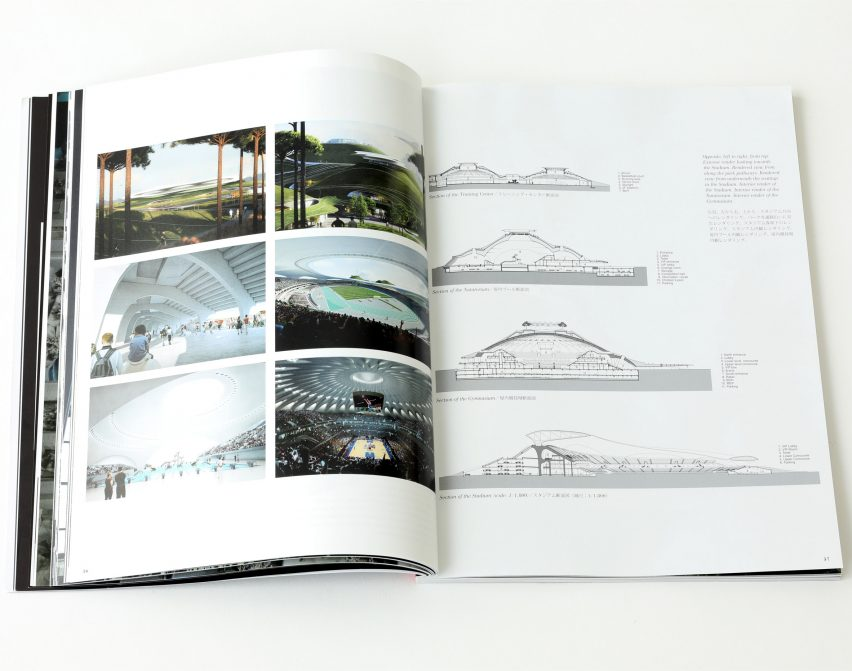 Spread from Dreamscape by a+u: Architecture and Urbanism magazine featuring Quzhou Sports Campus