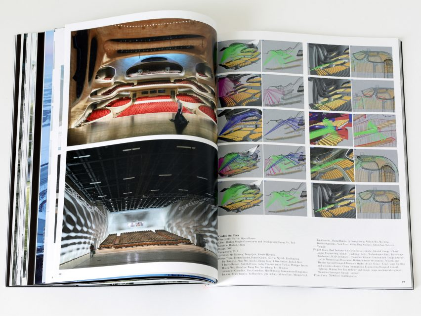 Spread from Dreamscape by a+u: Architecture and Urbanism magazine featuring Harbin Opera House