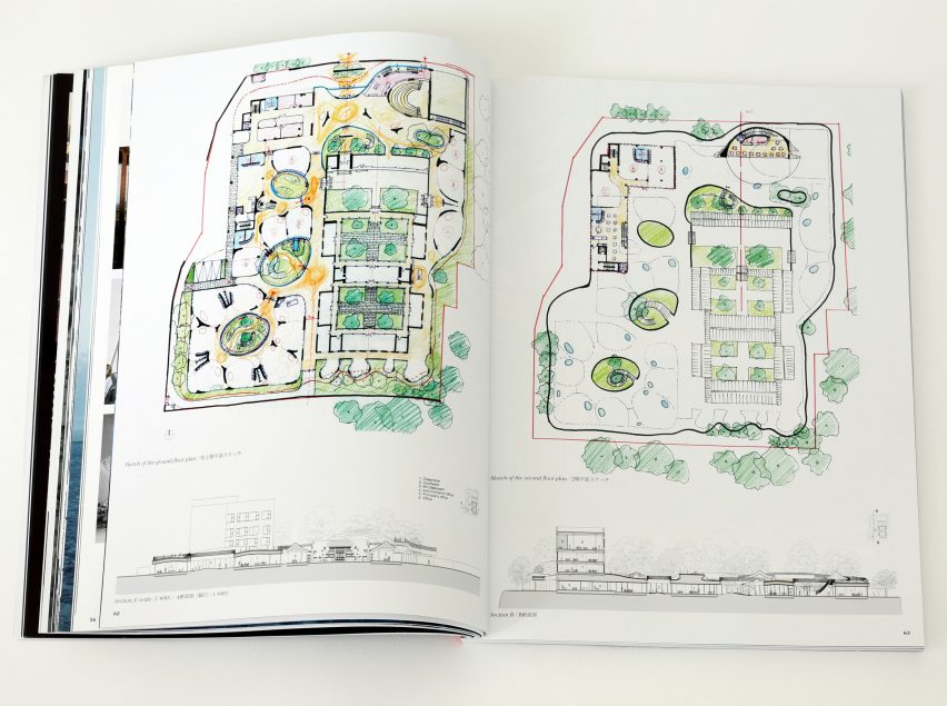 Spread from Dreamscape by a+u: Architecture and Urbanism magazine about Courtyard Kindergarten