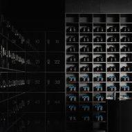 Black dominates moody ELMNT spinning studio in Montreal