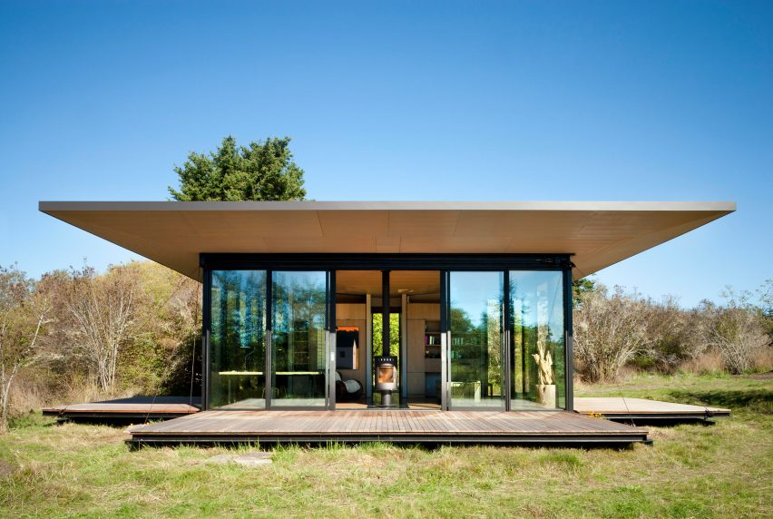Decks of False Bay Writer's Cabin by Olson Kundig