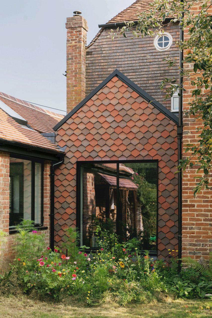 Gable facade of Farley Farmhouse by Emil Eve Architects