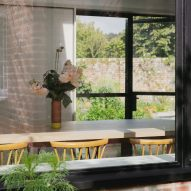 View through window at Farley Farmhouse by Emil Eve Architects