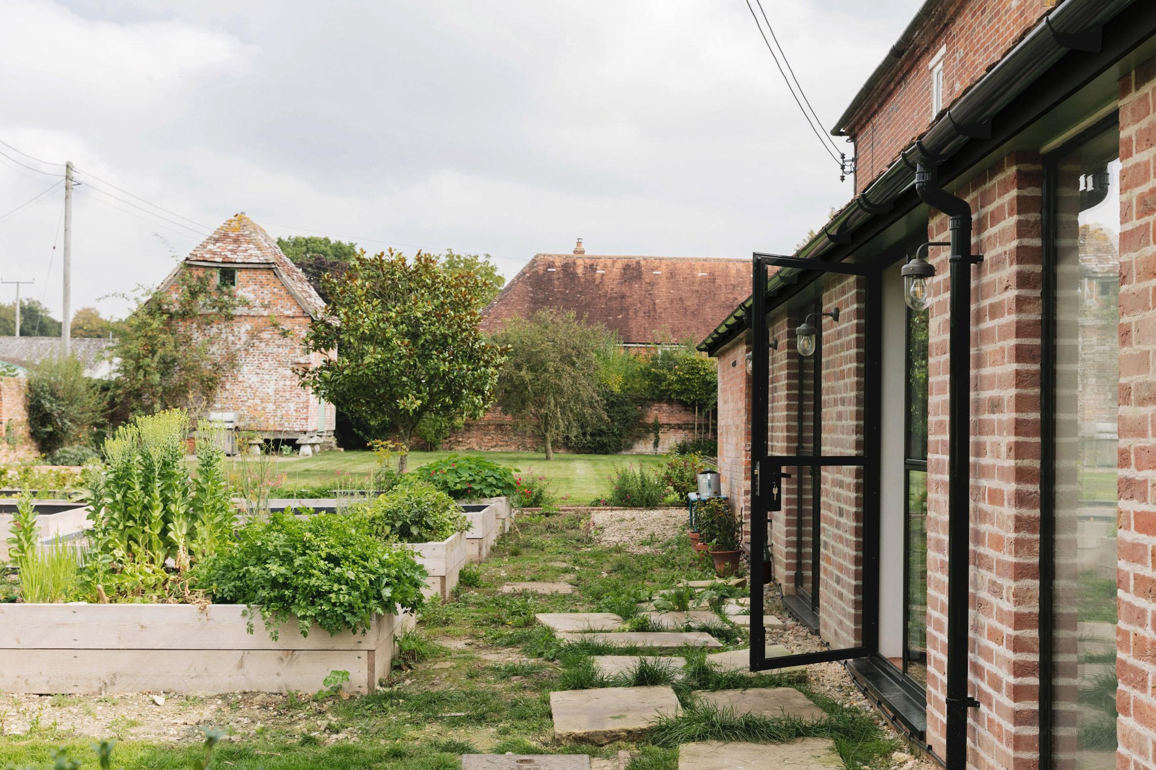 Garden at Farley Farmhouse by Emil Eve Architects