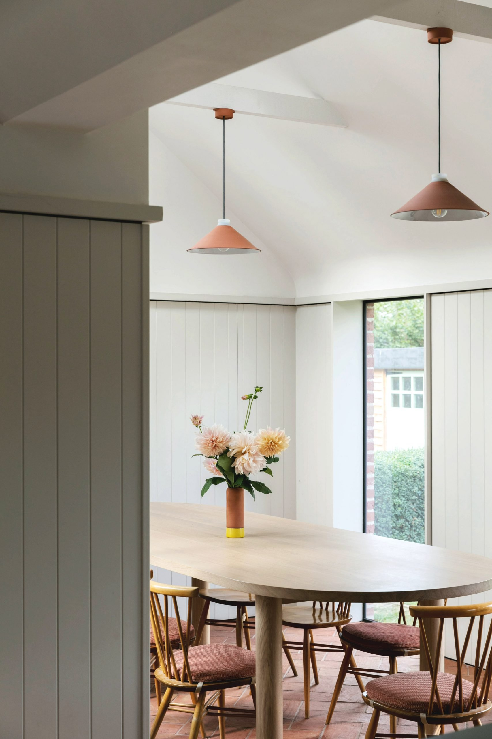 Dining table of Farley Farmhouse by Emil Eve Architects