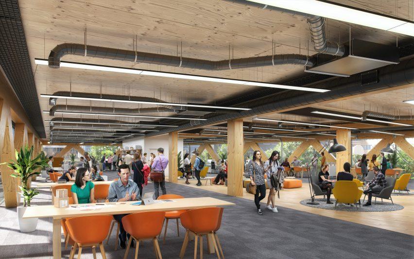 Inside the carbon-negative office building Paradise by Feilden Clegg Bradley