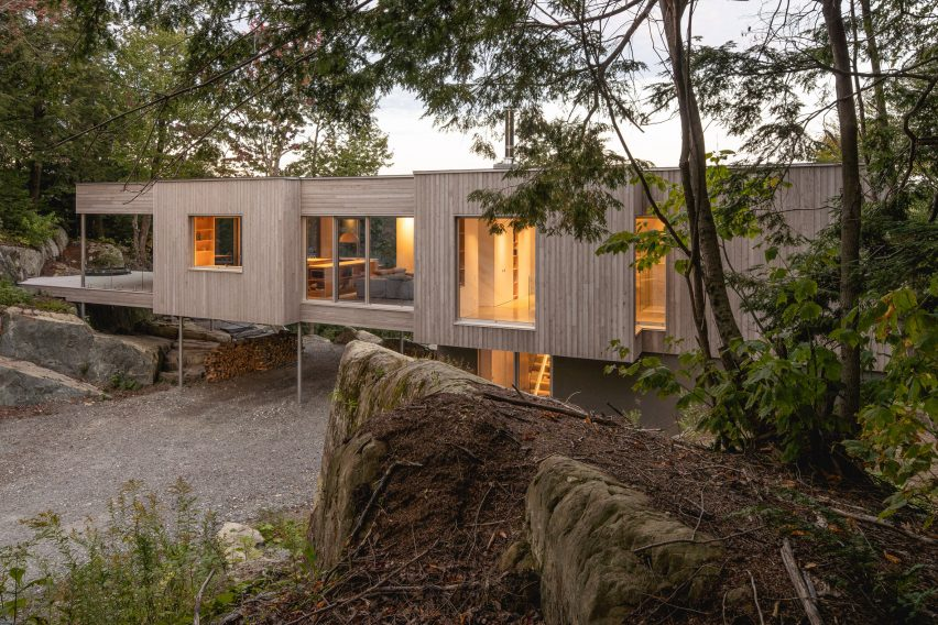 Exterior of Forest House I by Natalie Dionne Architecture