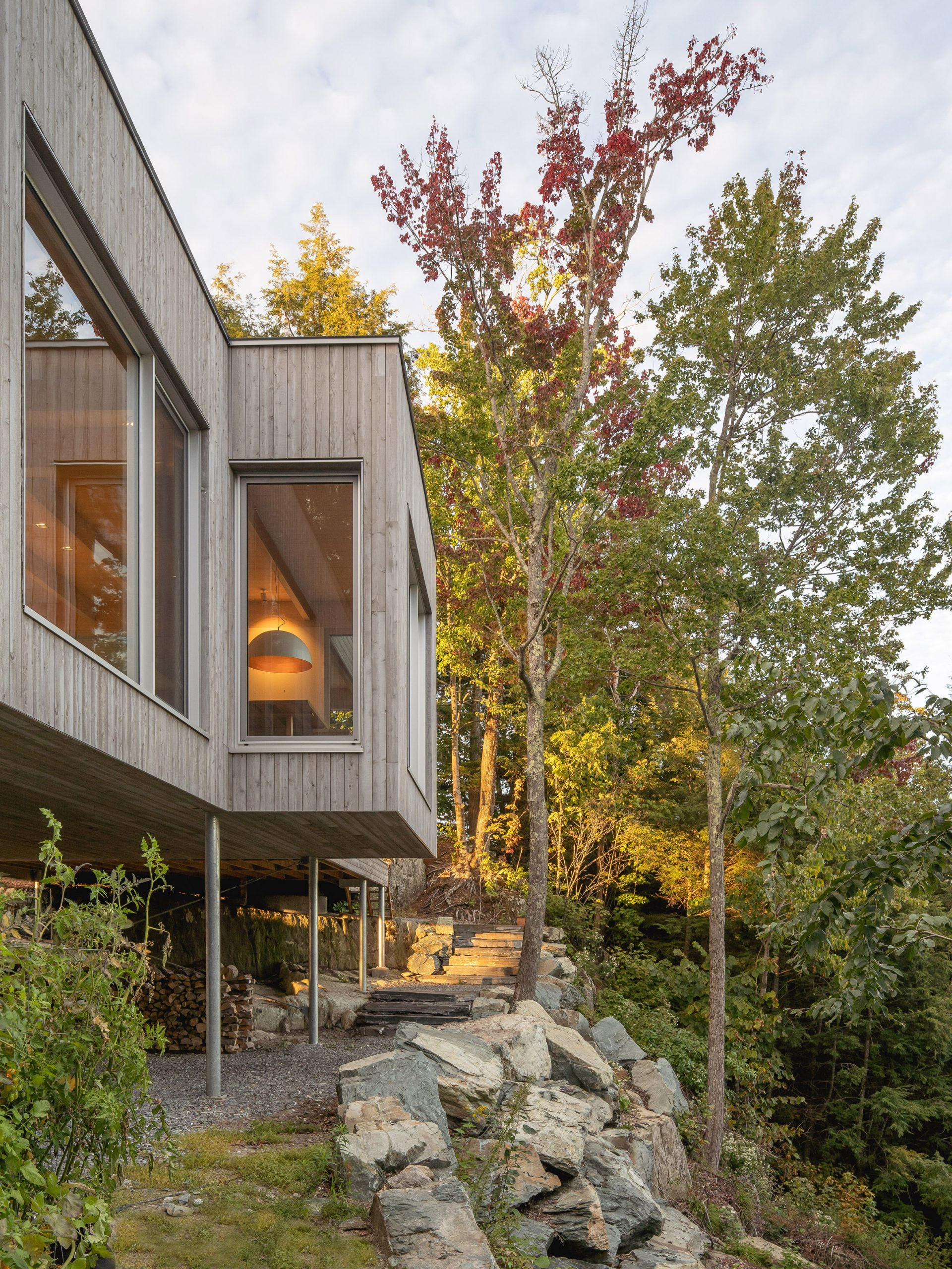 Timber store underneath Forest House I by Natalie Dionne Architecture