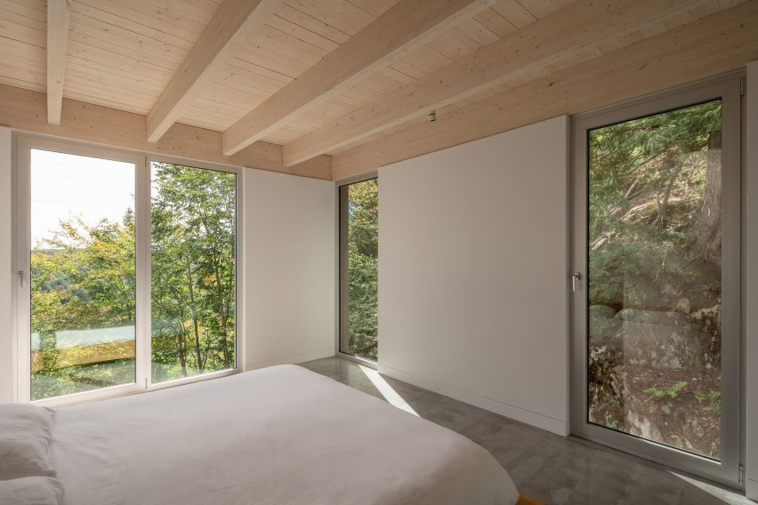 Bedroom in Forest House I by Natalie Dionne Architecture