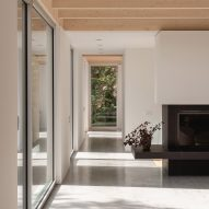 Polished concrete floors in Forest House I by Natalie Dionne Architecture