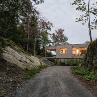 Approach view of Forest House I by Natalie Dionne Architecture