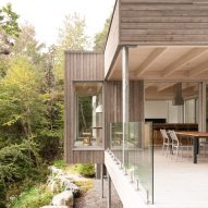Terrace of Forest House I by Natalie Dionne Architecture