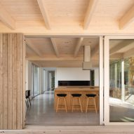 View to kitchen of Forest House I by Natalie Dionne Architecture