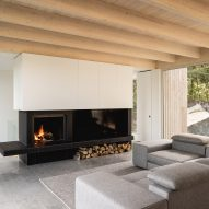 Fireplace in Forest House I by Natalie Dionne Architecture