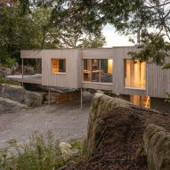 Natalie Dionne raises Forest House I on three-metre stilts for better light and views