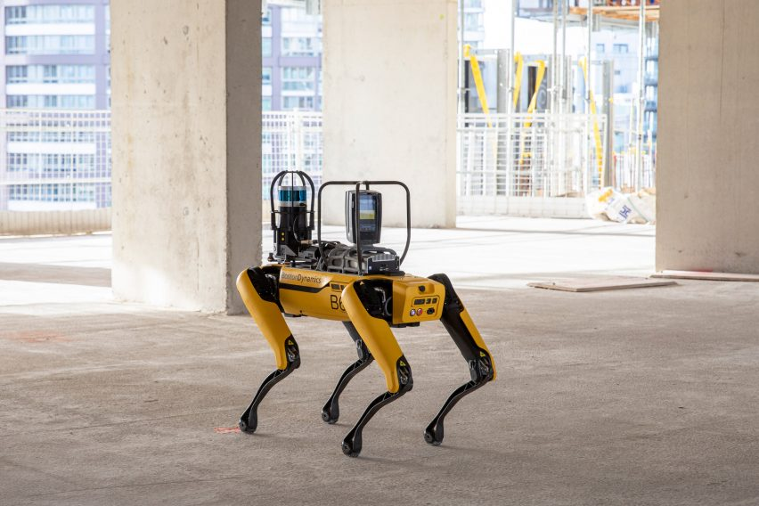 Boston Dynamics and Foster + Partners collaborated to use Spot the robot