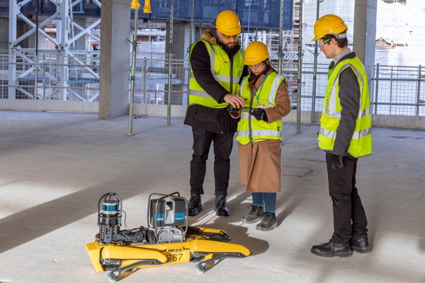 Architects use Spot the robot to scan the construction site