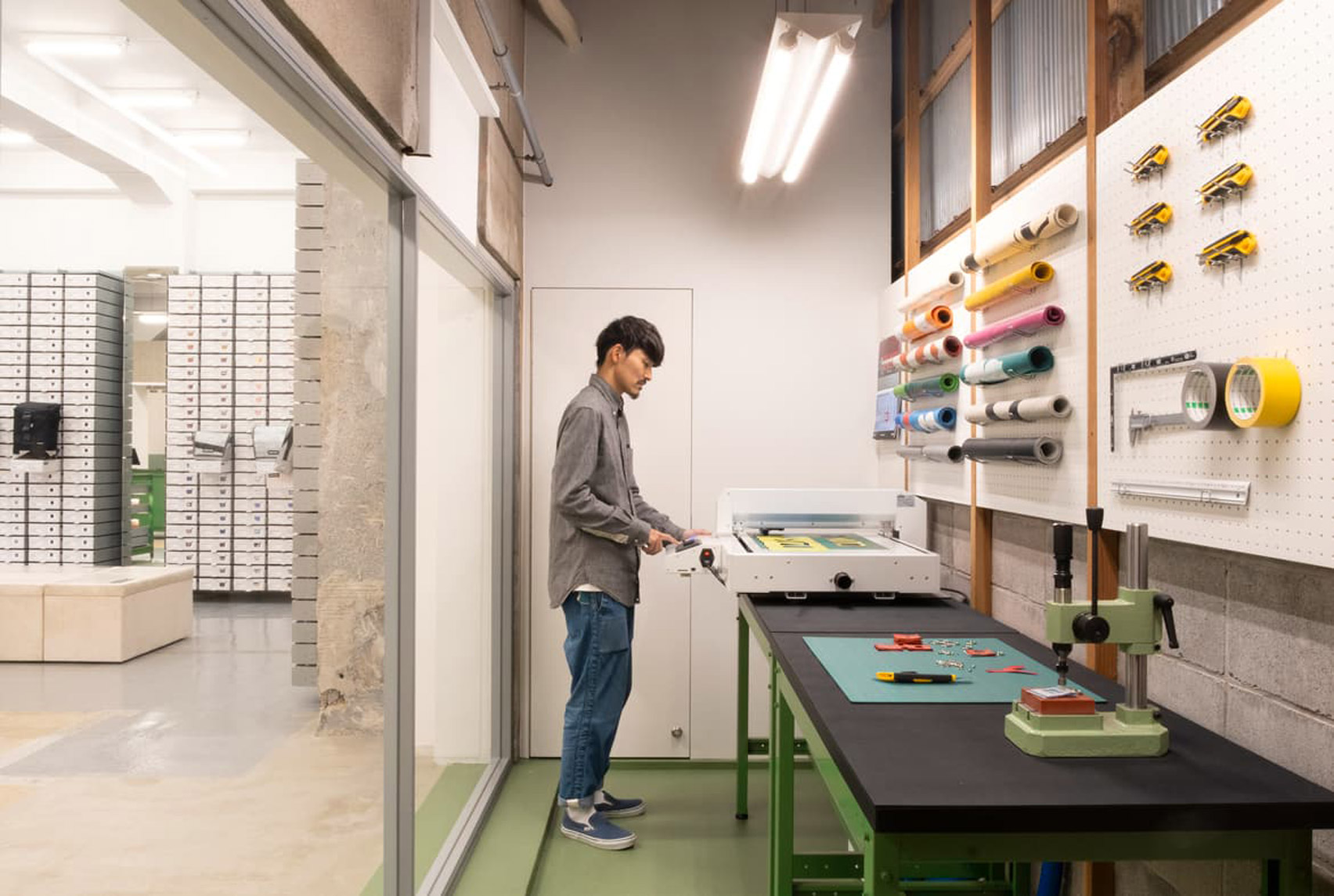 Freitag store in Kyoto includes its own workshop