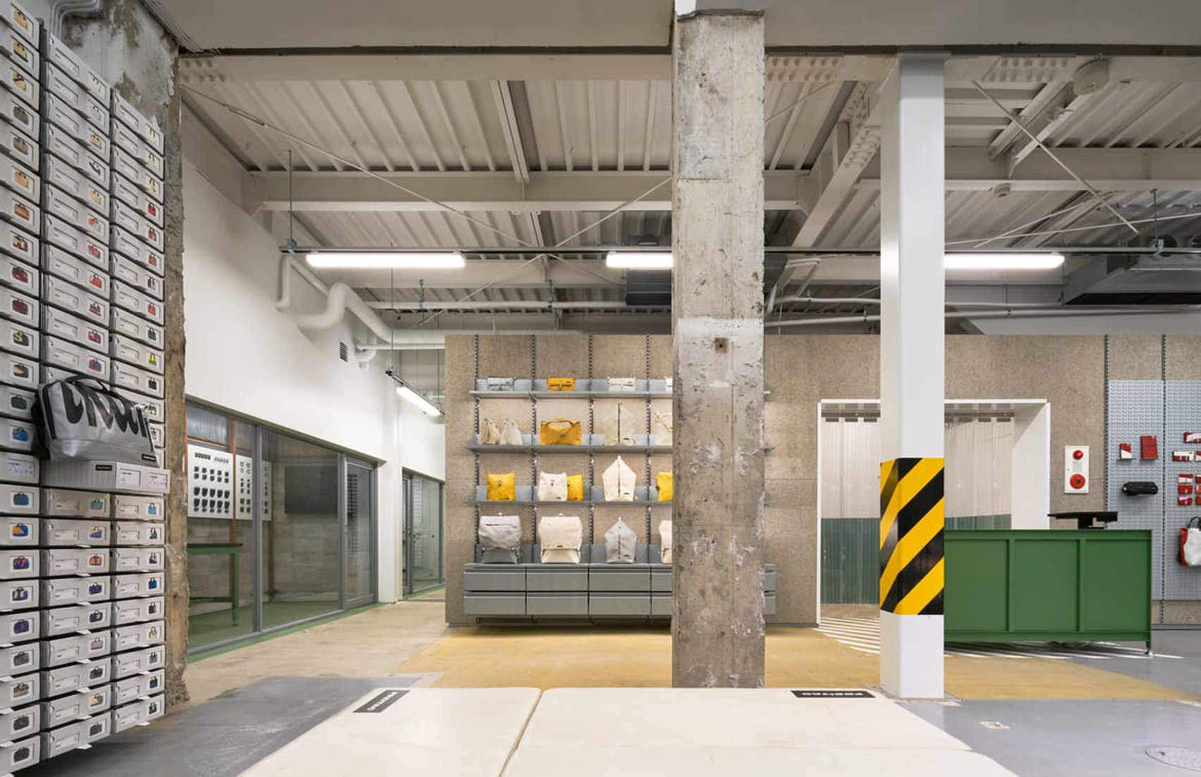 Freitag store in Kyoto has industrial interiors