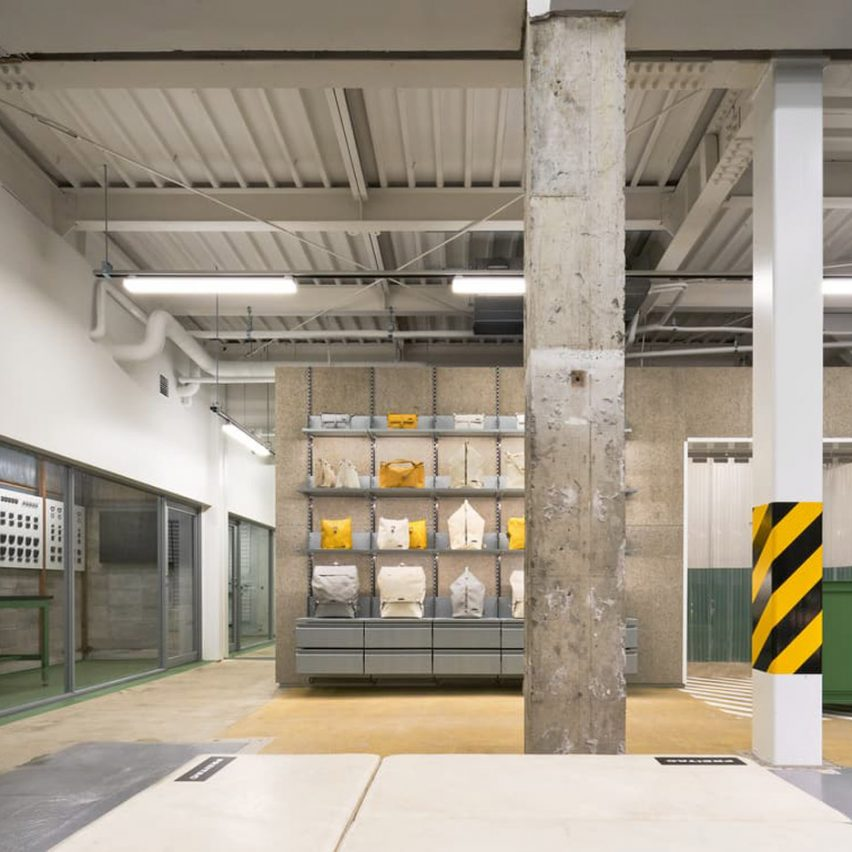 Freitag store in Kyoto is designed to resemble the brand's own warehouse