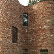 GjG House built of reclaimed bricks by BLAF Architecten in Ghent, Belgium