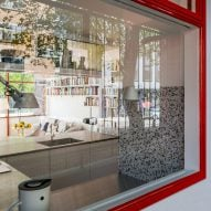 Kitchen window at Golden Lane flat by Archmongers