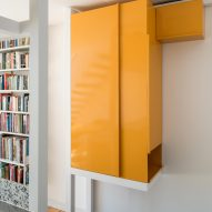 Steel storage cabinets in Golden Lane flat by Archmongers