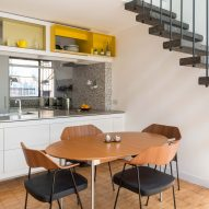 Dining table in Golden Lane flat by Archmongers