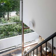 Double-height stairwell in Golden Lane flat by Archmongers