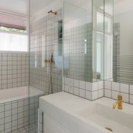 Bathroom sink in Golden Lane flat by Archmongers