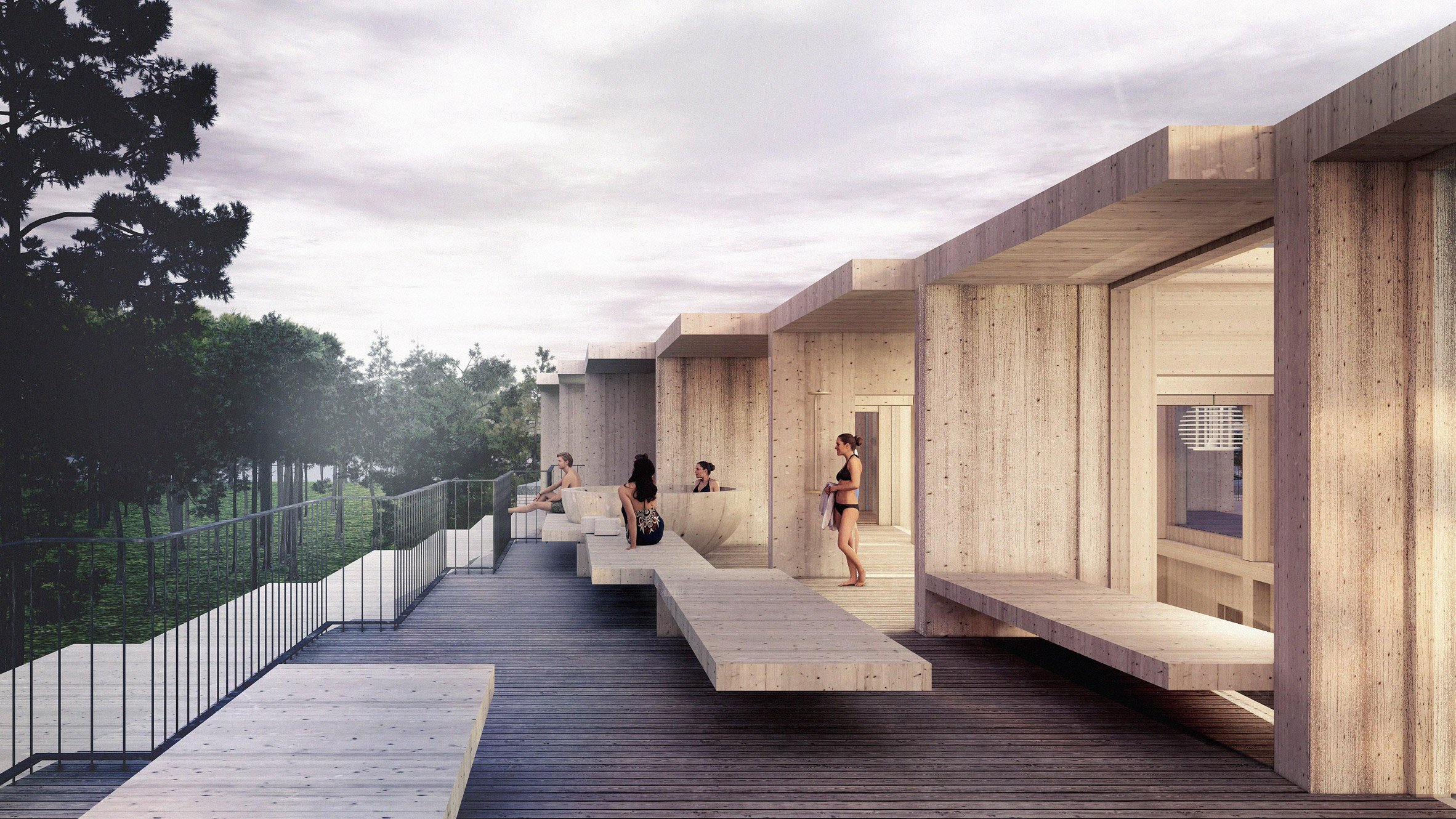The rooftop spa in the proposed Hotel GSH extension by 3XN and GXN