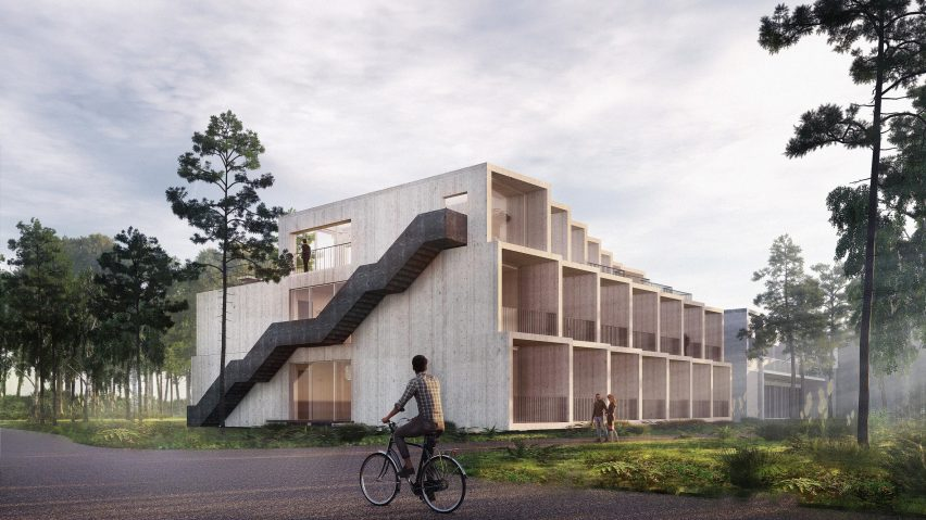 A visual of Hotel GSH that 3XN and GXN are developing in Denmark