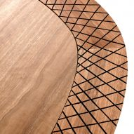 Detail view of Gulnura Table by Foolscap Studio and Manapan