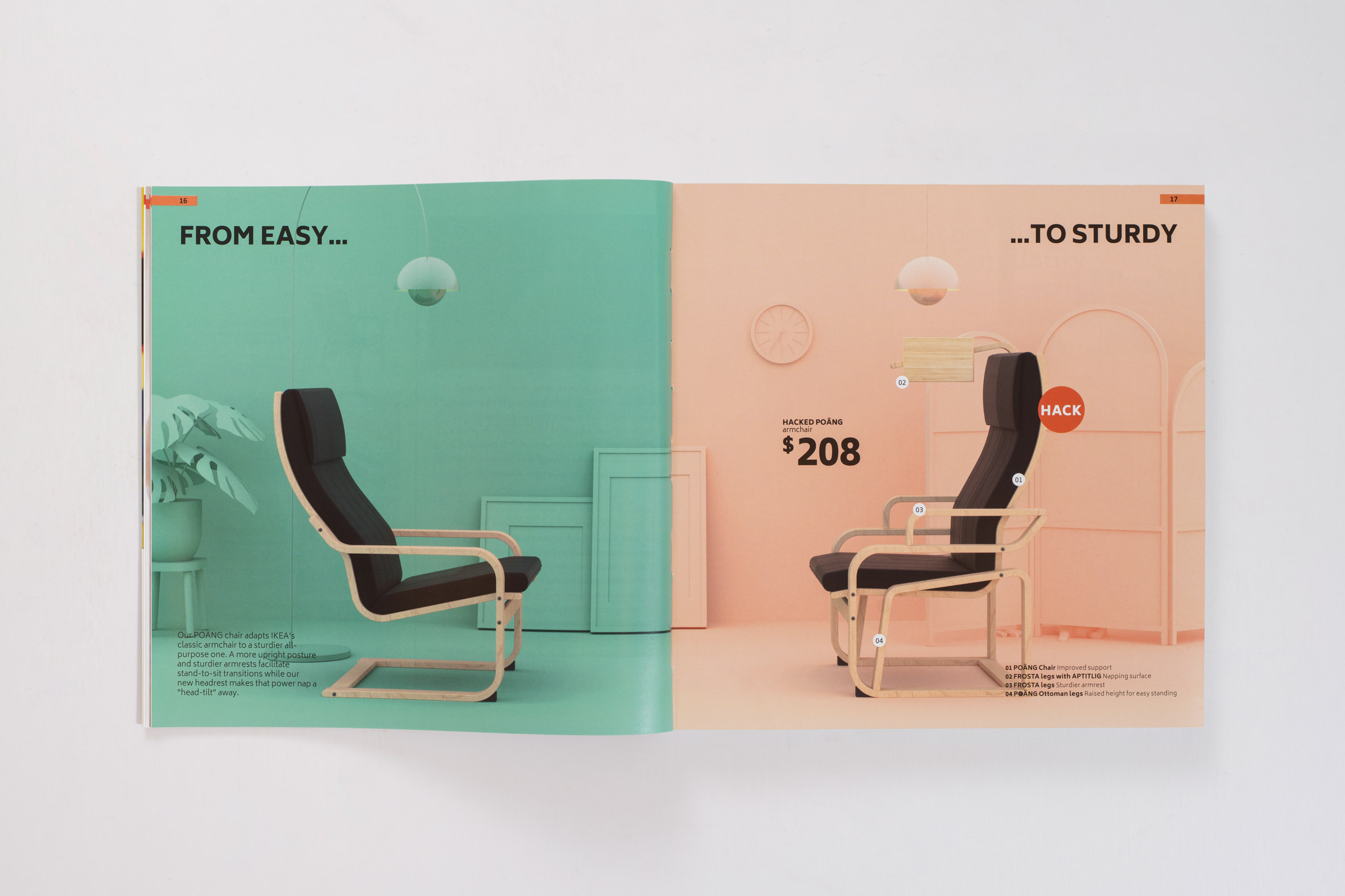 Hack of the IKEA Poäng armchair from the Hack Care book
