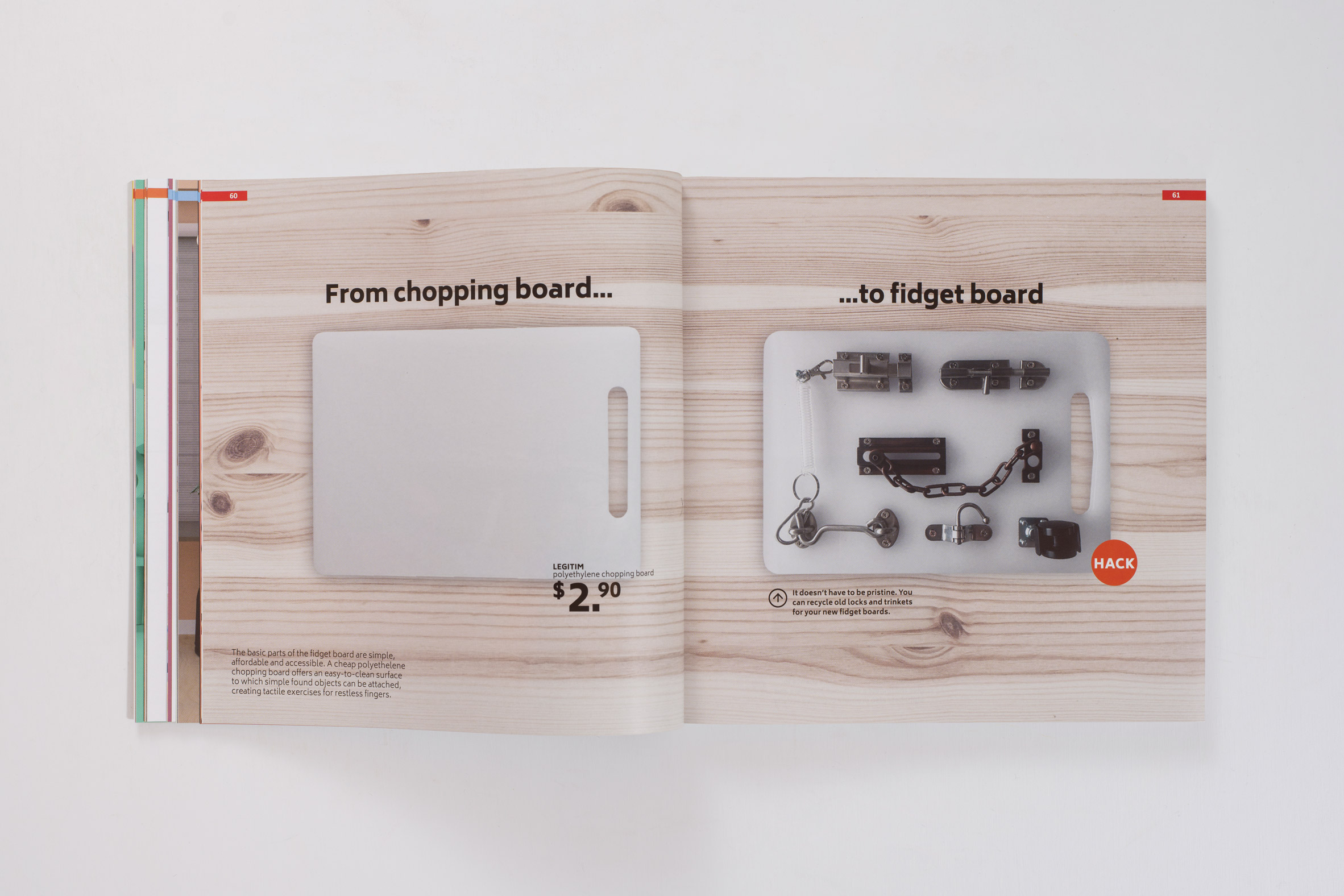 DIY fidget board for people with dementia from the Hack Care book